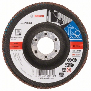Bosch Fibrový brúsny kotúč X571, Best for Metal D = 115 mm; G = 60, uhlový 1ks 2608605451