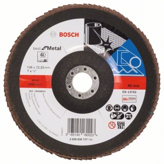 Bosch Fibrový brúsny kotúč X571, Best for Metal D = 180 mm; G = 40, uhlový 1ks 2608606737
