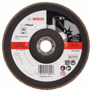 Bosch Fibrový brúsny kotúč X571, Best for Metal D = 180 mm; G = 80, uhlový 1ks 2608606739