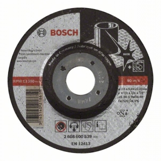 Bosch Obrusovací kotúč s prelisom Expert for Inox AS 30 S INOX BF, 115 mm, 6,0 mm 1ks 2608600539