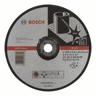 Bosch Obrusovací kotúč s prelisom Expert for Inox AS 30 S INOX BF, 230 mm, 6,0 mm 1ks 2608600541