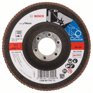 Bosch Fibrový brúsny kotúč X571, Best for Metal D = 115 mm; G = 120, uhlový 1ks 2608607319