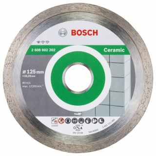 Bosch Diamantový rezací kotúč Standard for Ceramic 125 x 22,23 x 1,6 x 7 mm 1ks 2608602202