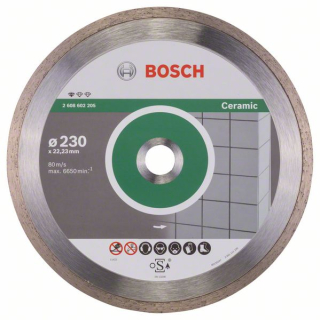 Bosch Diamantový rezací kotúč Standard for Ceramic 230 x 22,23 x 1,6 x 7 mm 1ks 2608602205