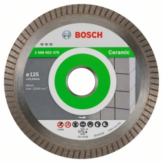Bosch Diamantový rezací kotúč Best for Ceramic Extra-Clean Turbo 125 x 22,23 x 1,4 x 7 mm 1ks 2608602479
