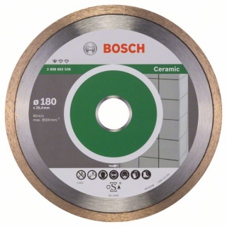 Bosch Diamantový rezací kotúč Standard for Ceramic 180 x 25,40 x 1,6 x 7 mm 1ks 2608602536