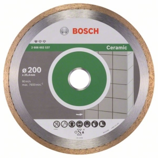 Bosch Diamantový rezací kotúč Standard for Ceramic 200 x 25,40 x 1,6 x 7 mm 1ks 2608602537