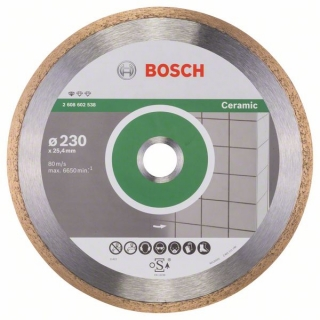 Bosch Diamantový rezací kotúč Standard for Ceramic 230 x 25,40 x 1,6 x 7 mm 1ks 2608602538