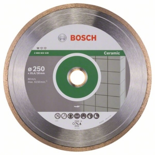 Bosch Diamantový rezací kotúč Standard for Ceramic 250 x 30+25,40 x 1,6 x 7 mm 1ks 2608602539