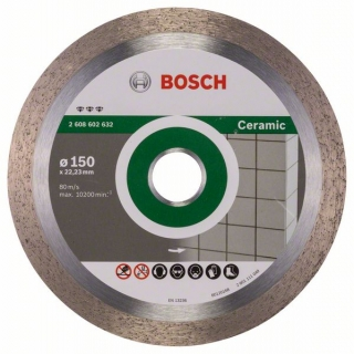 Bosch Diamantový rezací kotúč Best for Ceramic 150 x 22,23 x 1,9 x 10 mm 1ks 2608602632