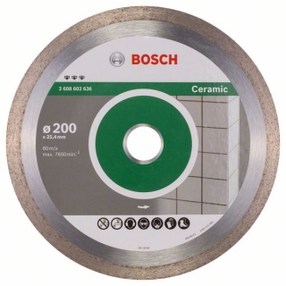 Bosch Diamantový rezací kotúč Best for Ceramic 200 x 25,40 x 2,2 x 10 mm 1ks 2608602636