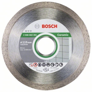 Bosch Diamantový rezací kotúč Standard for Ceramic 115 x 22,23 x 1,6 x 7 mm 10ks 2608603231