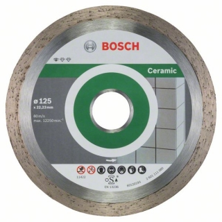 Bosch Diamantový rezací kotúč Standard for Ceramic 125 x 22,23 x 1,6 x 7 mm 10ks 2608603232