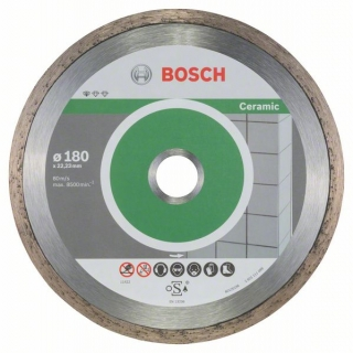 Bosch Diamantový rezací kotúč Standard for Ceramic 180 x 22,23 x 1,6 x 7 mm 10ks 2608603233