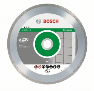 Bosch Diamantový rezací kotúč Standard for Ceramic 230 x 22,23 x 1,6 x 7 mm 10ks 2608603234