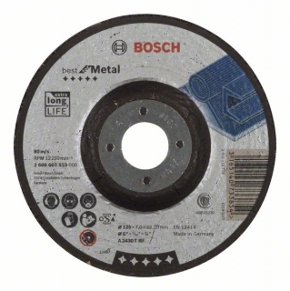 Bosch Obrusovací kotúč s prelisom Best for Metal A 2430 T BF, 125 mm, 7,0 mm 1ks 2608603533