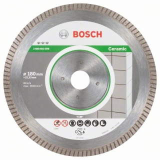 Bosch Diamantový rezací kotúč Best for Ceramic Extra-Clean Turbo 180 x 22,23 x 1,6 x 7 mm 1ks 2608603596