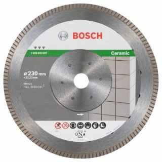 Bosch Diamantový rezací kotúč Best for Ceramic Extra-Clean Turbo 230 x 22,23 x 1,8 x 7 mm 1ks 2608603597