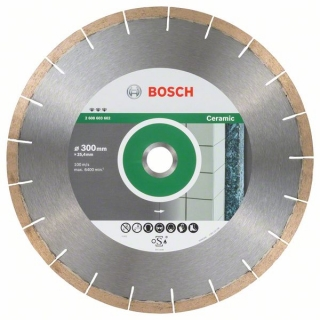 Bosch Diamantový rezací kotúč Best for Ceramic and Stone 300 x 25,40 x 1,8 x 10 mm 1ks 2608603602