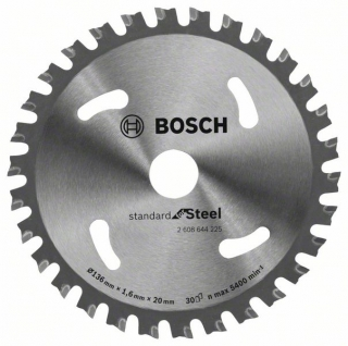 Bosch Pílový kotúč Standard for Steel 136 x 20 x 1.6 mm; 30 1ks 2608644225
