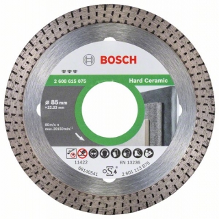 Bosch Diamantový rezací kotúč Best for Hard Ceramic 85x22.23x1.4x7mm 1ks 2608615075