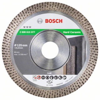 Bosch Diamantový rezací kotúč Best for Hard Ceramic 125x22.23x1.4x10 1ks 2608615077