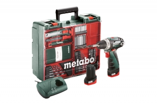 Aku vŕtací skrutkovač Metabo PowerMaxx BS Basic SET (2x2,0Ah) 600080880