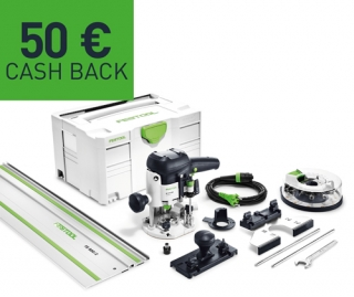 Horná frézka Festool OF 1010 EBQ-Set + Box-OF-S 8/10x HW 574384